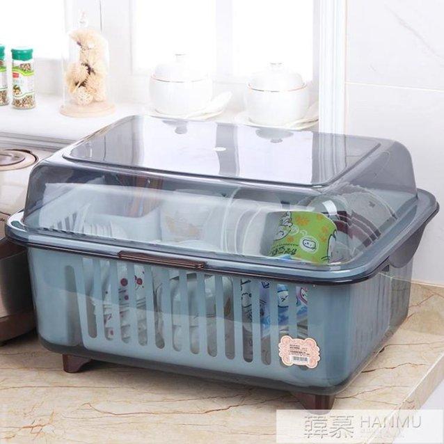 塑料碗櫃大號廚房歐式多功能家用放碗筷收納箱帶蓋碗碟瀝水收納盒 YTL 秋冬新品特惠