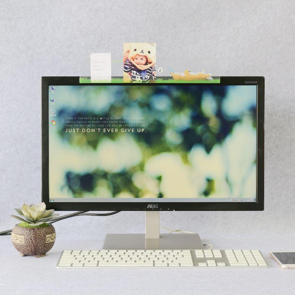 【OSHI歐士】電腦螢幕留言備忘版-飛盤狗/MEMO夾/禮物/辦公用品/便利貼留言板/百元以下