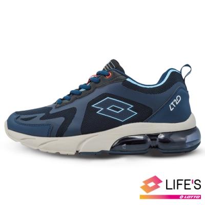 LOTTO 義大利 男 LT20 氣墊跑鞋(藍/米)