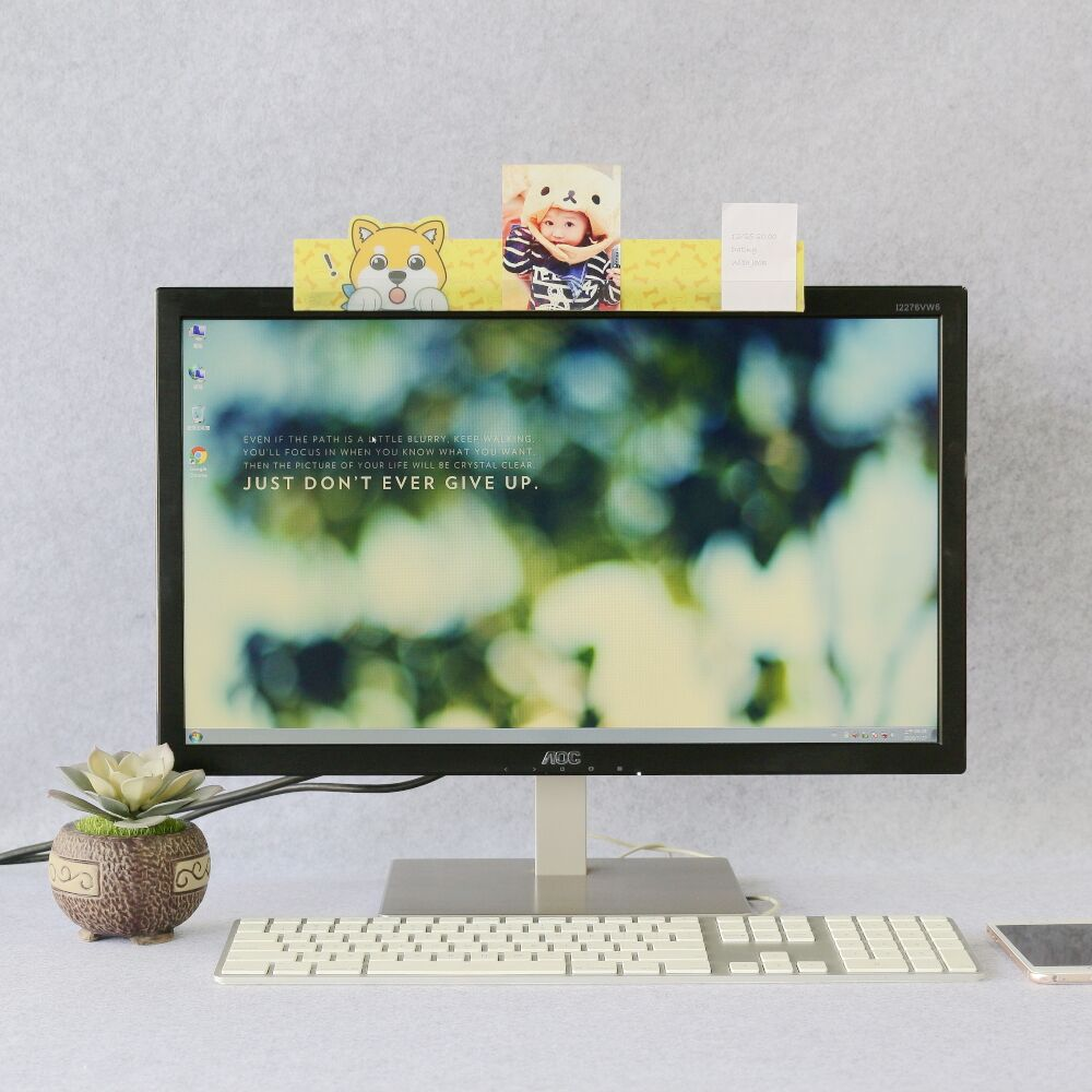【歐士OSHI】電腦螢幕留言備忘版-柴犬米路A款 MEMO夾/禮物/辦公用品/便利貼留言板/百元以下