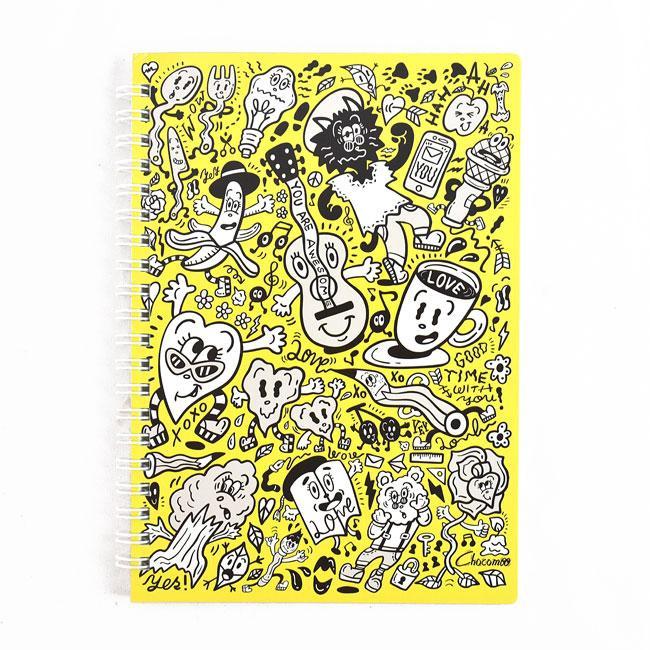 ROUND TOP Chocomoo Ring Notebook/ Yellow/ 2019 eslite誠品