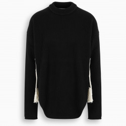 Jil Sander Black jumper with contrasting patch