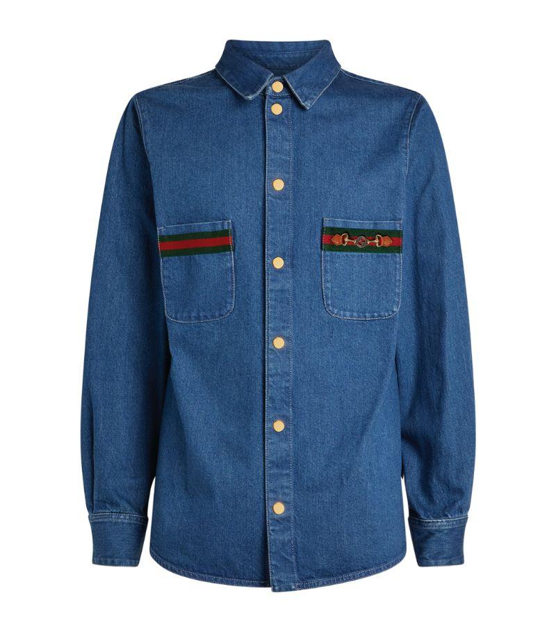 Gucci Horsebit Denim Shirt