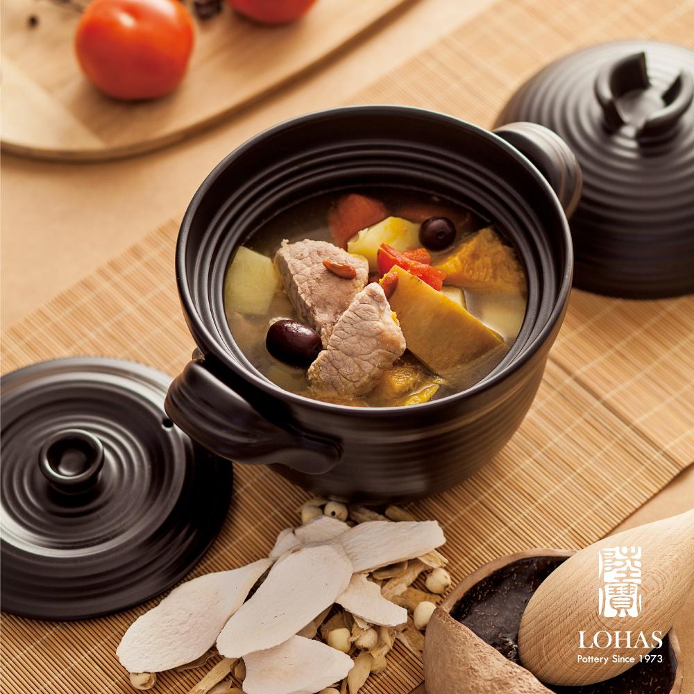【陸寶陶鍋】和風雙層蓋陶鍋 1號  1.6L 細熬慢燉藥膳 陶鍋米飯美味