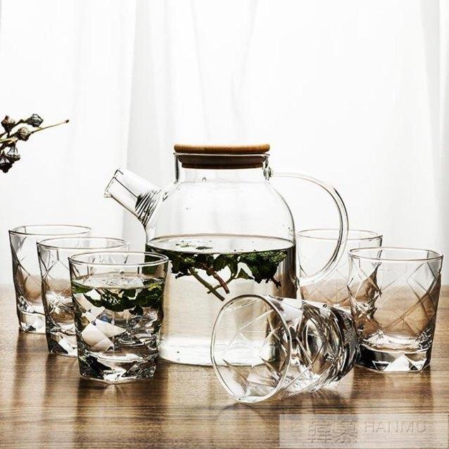 歐式玻璃杯家用耐熱喝水茶杯客廳透明水杯6只套裝杯子  YTL 秋冬新品特惠