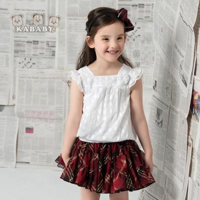 【金安德森】KA氣質紅格短裙 (105-115)