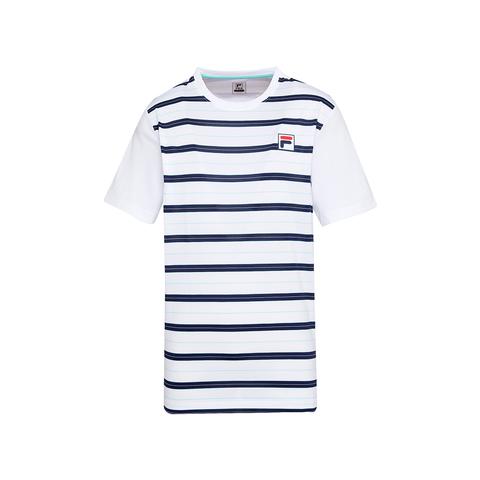 FILA 男圓領T恤-白色 1TEU-5010-WT