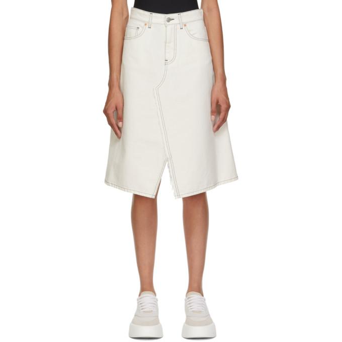 MM6 Maison Margiela 灰白色 A-Line 丹宁半身裙