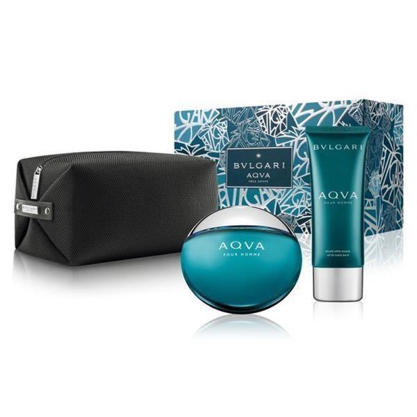 寶格麗 BVLGARI AQVA 水能量男性淡香水禮盒 (淡香水100ml+鬍後乳100ml+盥洗包)