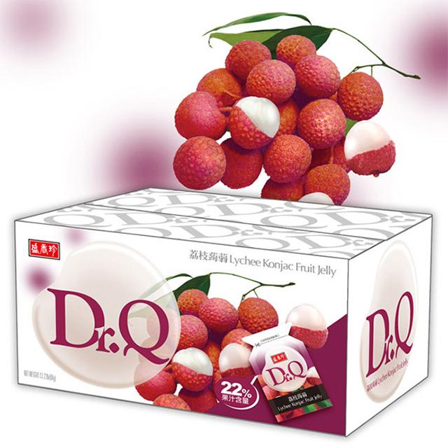 《盛香珍》Dr. Q 荔枝蒟蒻果凍量販箱6KG(約300小包)