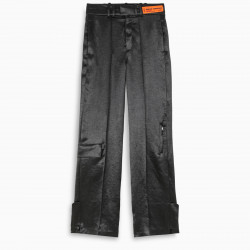 Heron Preston Black wide leg trousers