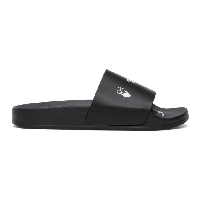 Off-White 黑色 New Logo 拖鞋