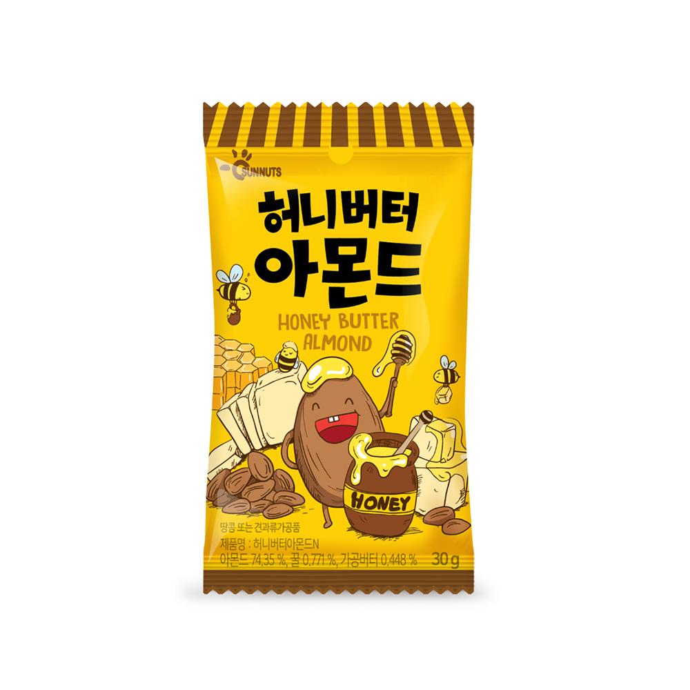 [韓國 SUNNUTS] 杏仁果 (30g) 蜂蜜奶油風味