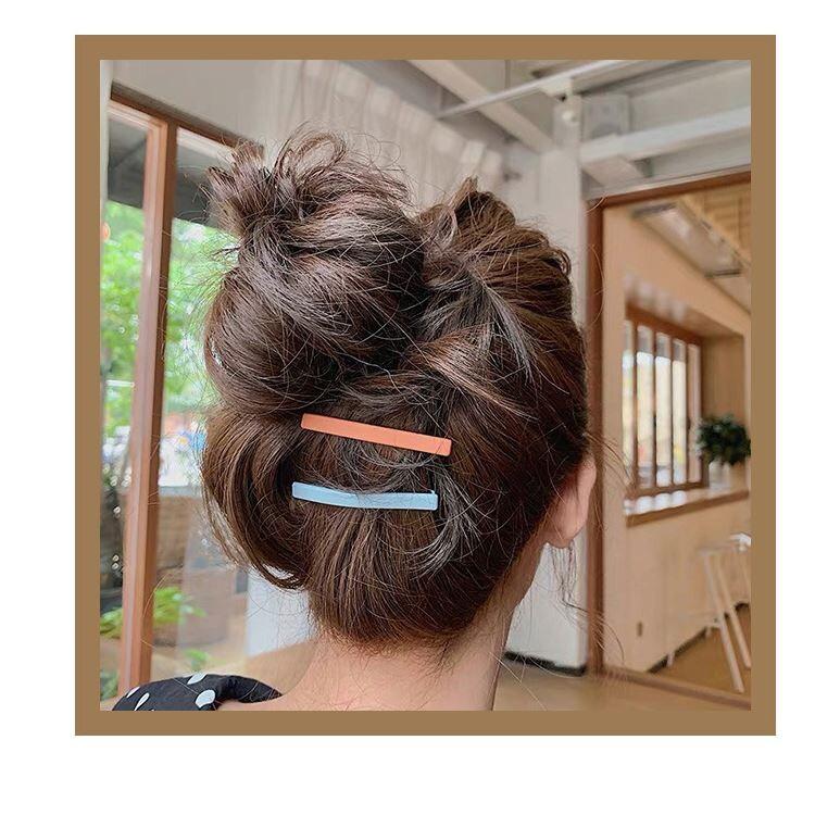 泫雅風同款糖果色髮夾ins網紅bb夾頭飾韓國少女夾子發卡彩色邊夾