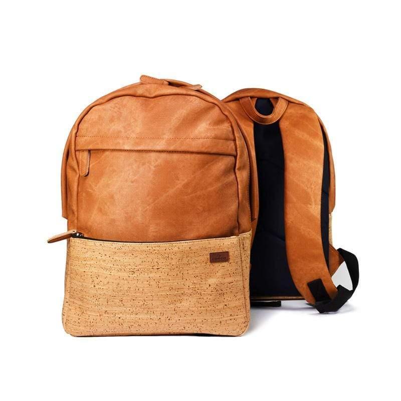 軟木雙肩後背包 棕色