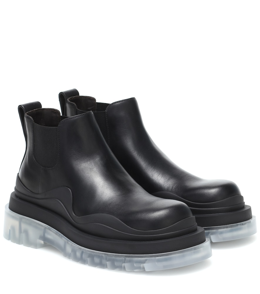 BV Tire leather ankle boots