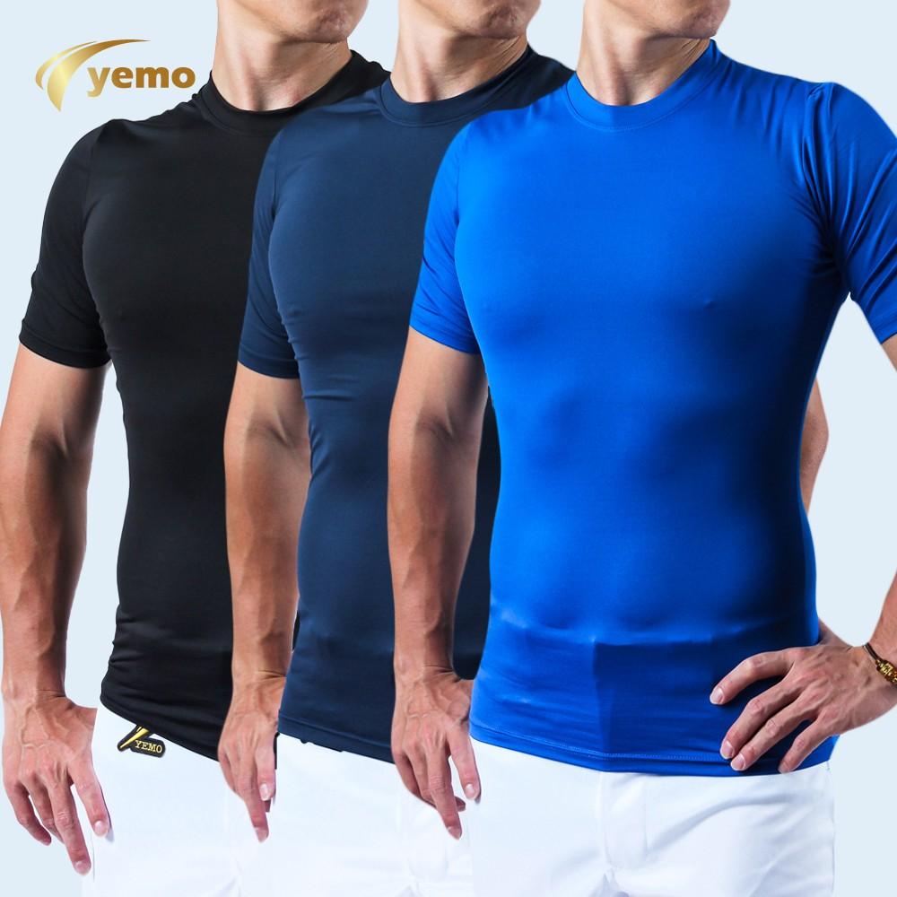 YEMO益茂 短袖緊身衣 排汗速乾 健身 跑步 訓練健身 排汗 壓縮衣 男短袖運動衣 短袖緊身衣 運動緊身衣 GS102