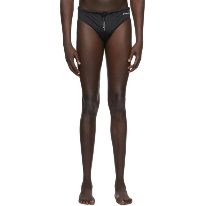 Givenchy 黑色徽标三角泳裤