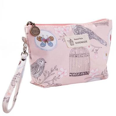防水布化妝品收納包 印花女士便攜手拿包