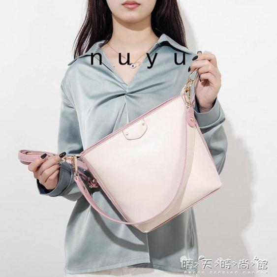 努魚水桶包女新款大容量寬帶通勤斜背包網紅包包女簡約百搭潮