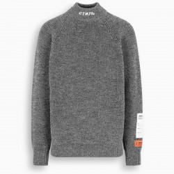 Heron Preston CTNMB grey wool turtleneck jumper