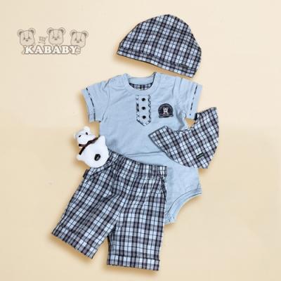 【金安德森】春夏彌月禮盒-水手系兔裝+褲子套裝 (水藍色)