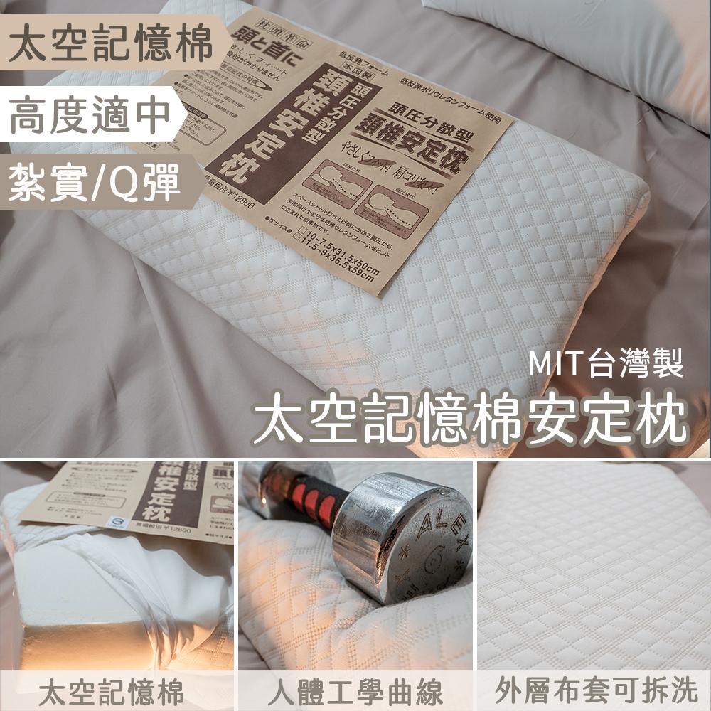 太空記憶棉安定枕 59X36.5X高11cm高效能吸震與釋壓 台灣製【棉床本舖】