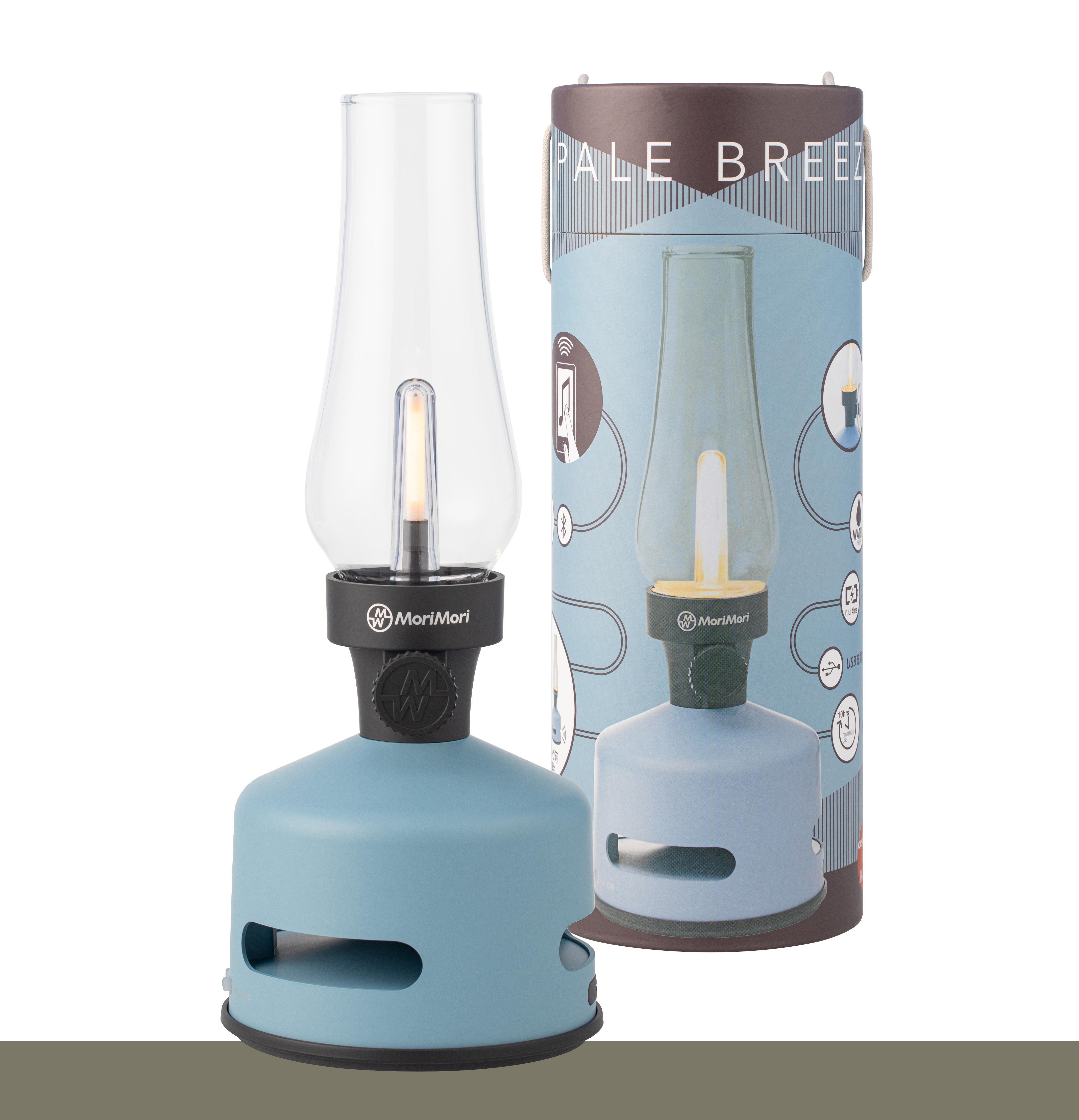 【MoriMori】LED煤油燈藍牙音響-藍色 多功能LED燈 小夜燈 IPX4防水 藍芽音響 氣氛燈 照明燈 環繞音效