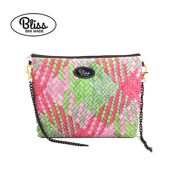 【正版授權】泰國Bliss BKK包 側背包 氣質仿編織綠 4款背帶可選 現貨供應中