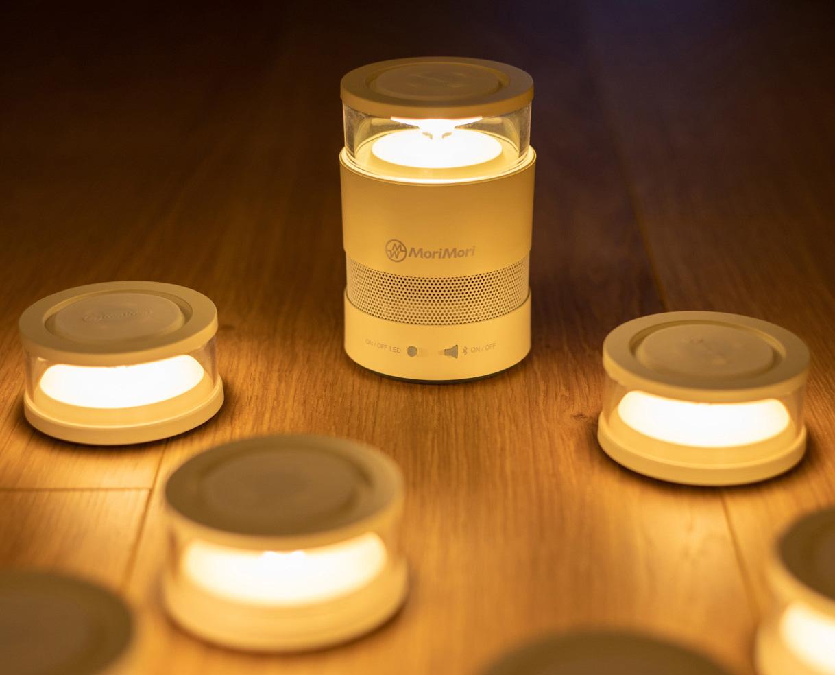【MoriMori】LASMO Speaker 多功能LED燈 小夜燈 氣氛燈 照明燈 防水 可分離式燈 藍芽音響