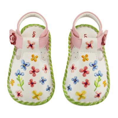 愛的世界 秘密花園寶寶鞋/學步鞋(白色)-台灣製-