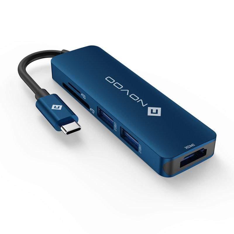 USB-C HUB / 五合一Type-C多功能集線器-藍色