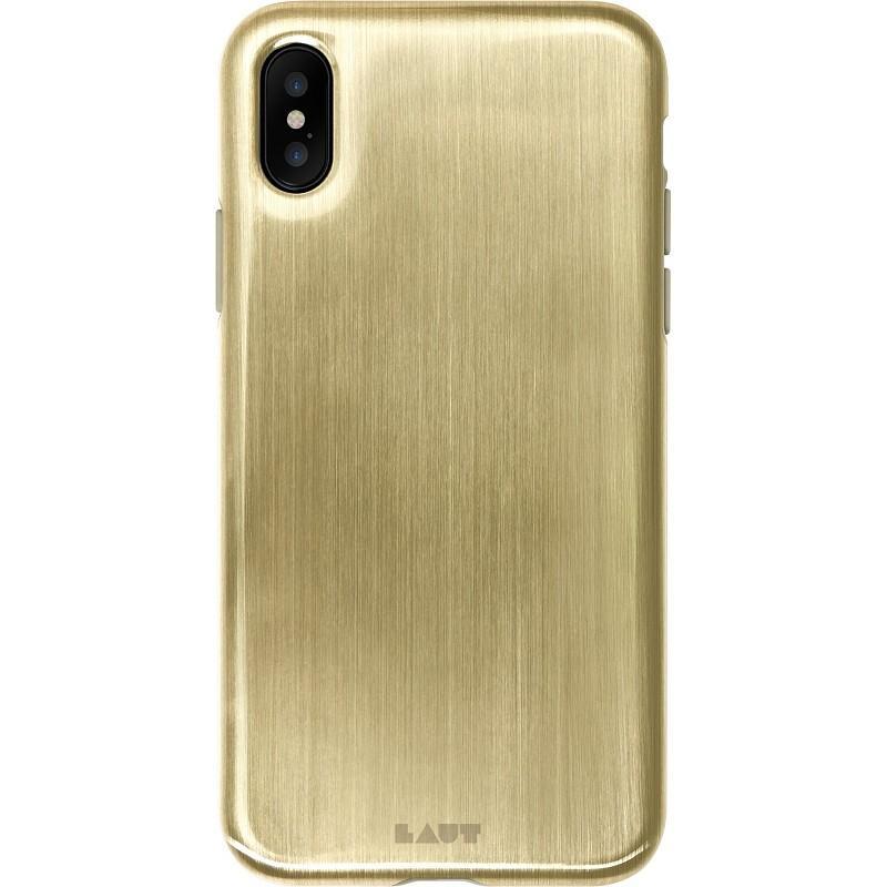 iPhone X 玩色金屬系列軟式手機殼古銅金