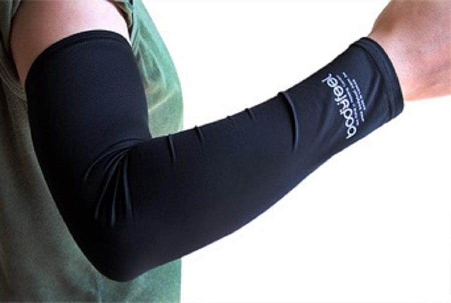 BODYFEEL体感服飾-涼感抗UV防曬袖套【男無遮手-黑白】