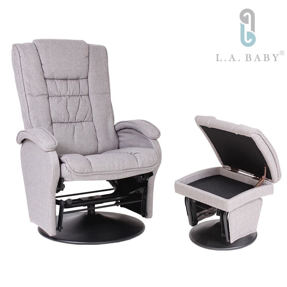 美國 L.A. Baby 歐式多功能搖椅(灰色)