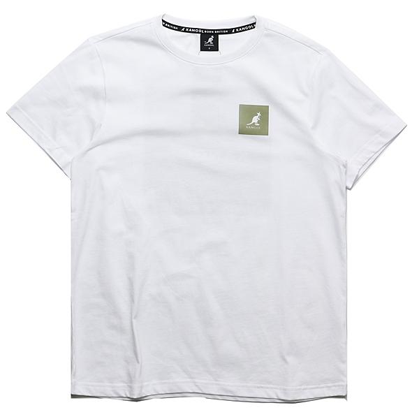 KANGOL 短袖 短T 白 方塊LOGO 棉 休閒 男 (布魯克林) 6021102700