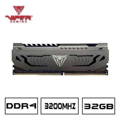 (6/20前再送3%超贈點)VIPER蟒龍 STEEL DDR4 3200 32GB桌上型記憶體