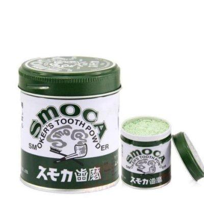 「ヒノエ」日本斯摩卡SMOCA牙膏粉洗牙粉 美白牙齒去煙漬茶漬155G綠色的帶點綠茶味H1Q4W