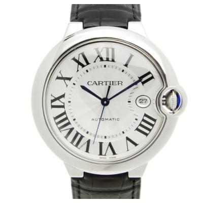 CARTIER 卡地亞 Ballon Bleu 經典羅馬時標機械腕錶(WSBB0026)x白面x黑色錶x42mm
