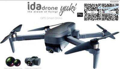 【Ida drone】yuki pro意念空拍機 4K三軸穩定雲台高畫質(GPS/光流定位)雙電版含包包現貨(台灣品牌台灣維修保固