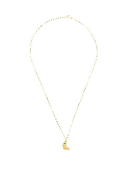 Alighieri - The Faint Moonlight Emerald & Gold Necklace - Womens - Gold