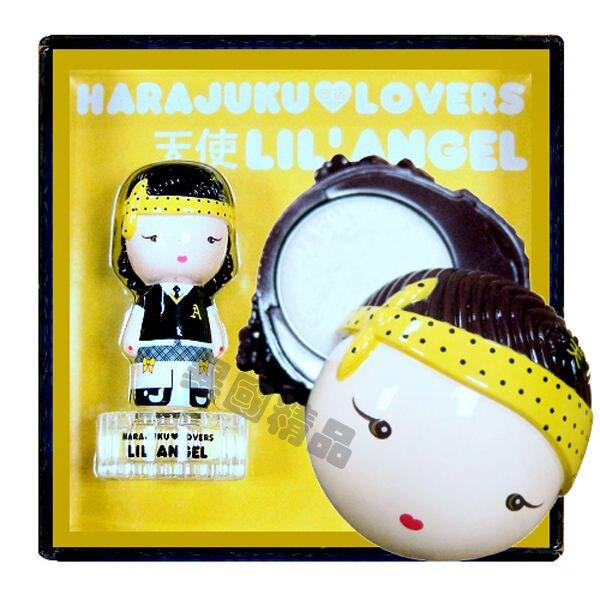 【特價】異國精品Harajuku Lovers原宿娃娃 天使(Angel) 限量禮盒組 30ml女香+1.2g香膏 郵寄免運