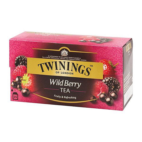 英國唐寧茶 TWININGS-綜合野莓茶包 WILD BERRY TEA 2g*25入/盒-【良鎂咖啡精品館】