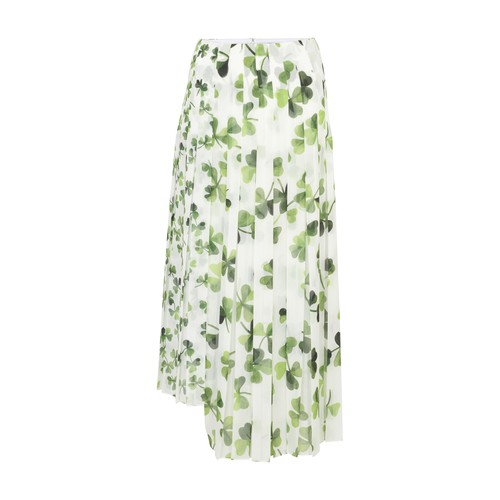 Shamrock pleated skirt