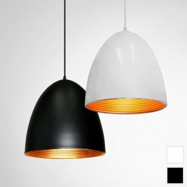 18park-蛋塔吊燈/3色 [全電壓,外黑內金]