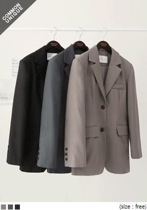 韓國空運 - 俐落氣場後開衩西裝外套 夾克