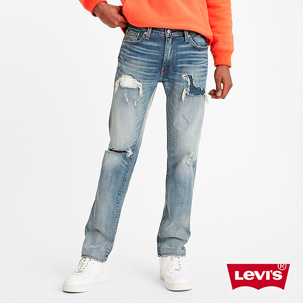 Levis 男款 511低腰修身窄管牛仔褲 / 精工多重破壞工藝 / 天絲棉 / 彈性布料