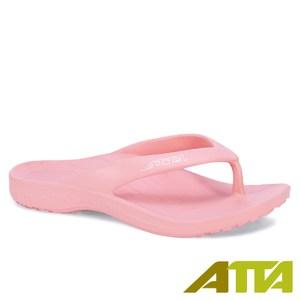 ATTA運動風簡約夾腳拖鞋-粉7