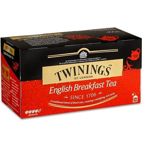 TWININGS 唐寧小茶包- 伯爵紅茶包、英倫早餐茶 和熱帶風情茶 2g*25入/盒(共三盒)