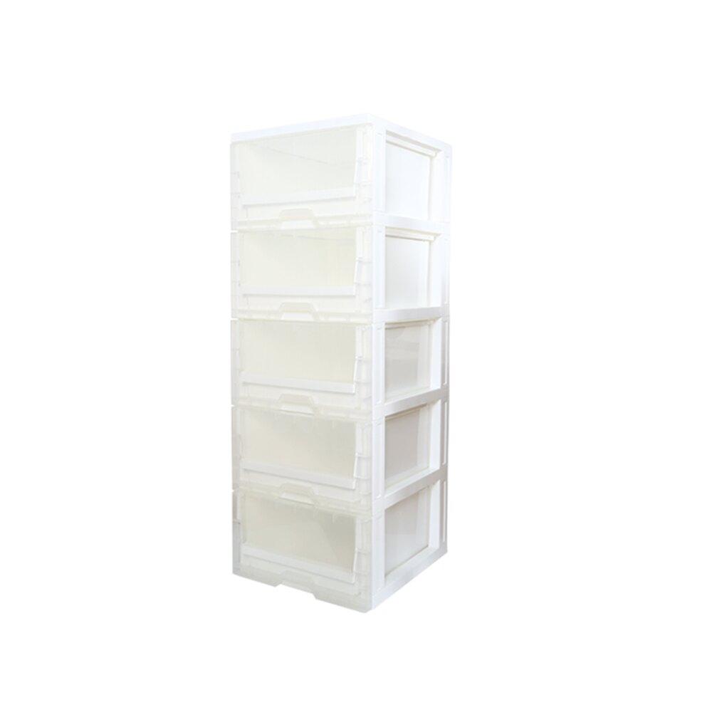 E&J【005079】日系風透明 DIY 五層收納櫃;收納箱/整理箱/收納袋/收納盒/衣櫥/鞋櫃/衣櫃/鞋櫃